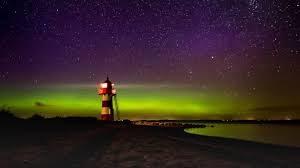 northern light over denmark