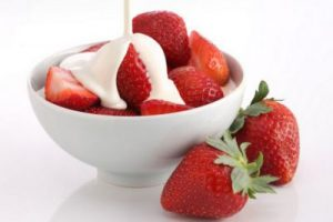 strawberries- cream