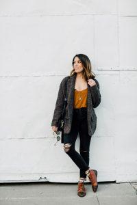Black jeans layering