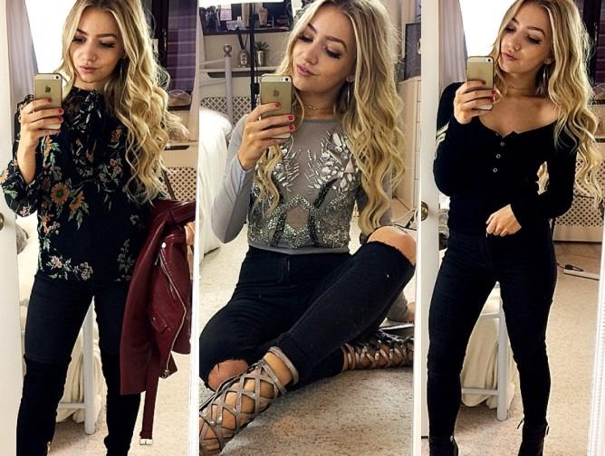 black skinny jeans style