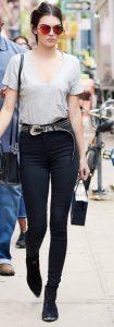 kendall jenner in black skinny jeans