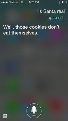Siri replies