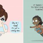 girl struggles