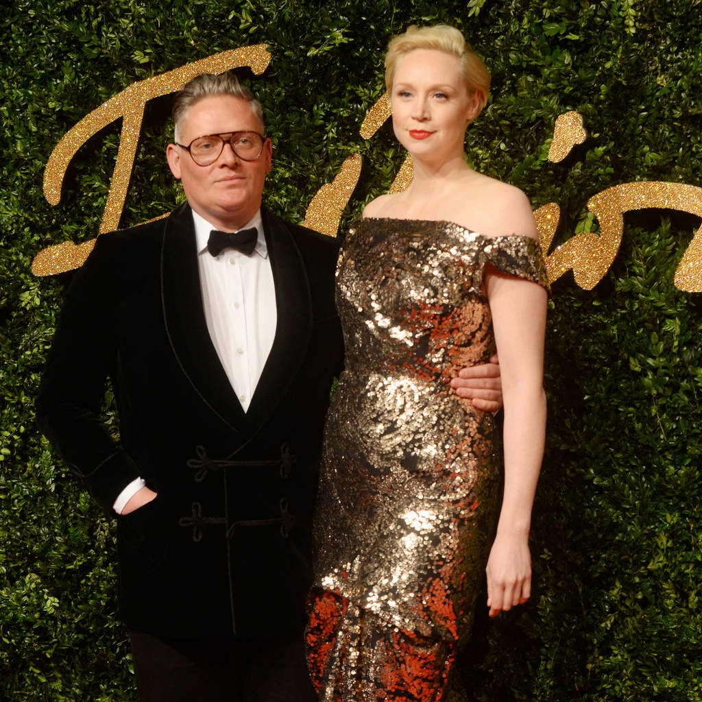 Gwendoline Christie (Brienne of Tarth) and Giles Deacon