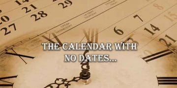 the calendar with no dates