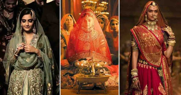 bridal look in Indian Movies
