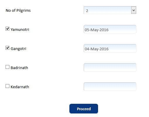Chardham Yatra Registration