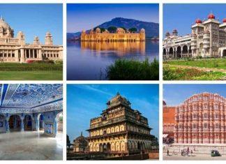 schöne Paläste in Indien