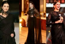 appeal of the classic black saree