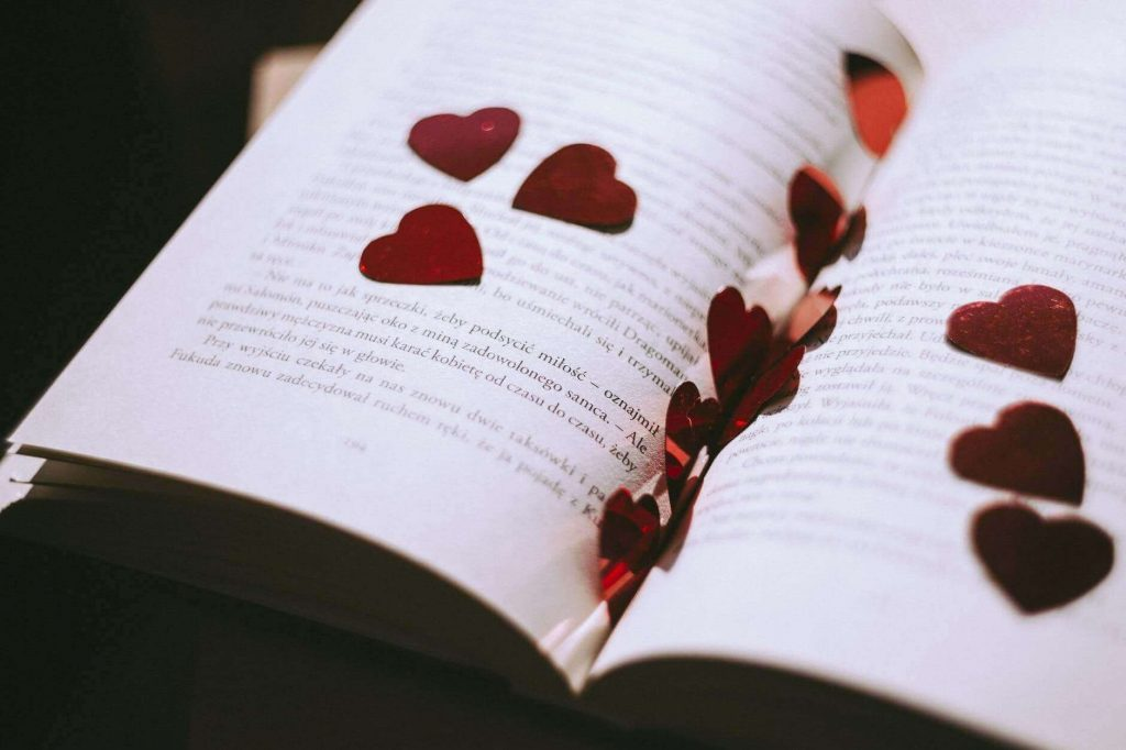 hearts in book