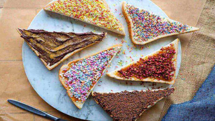 sprinkles on bread